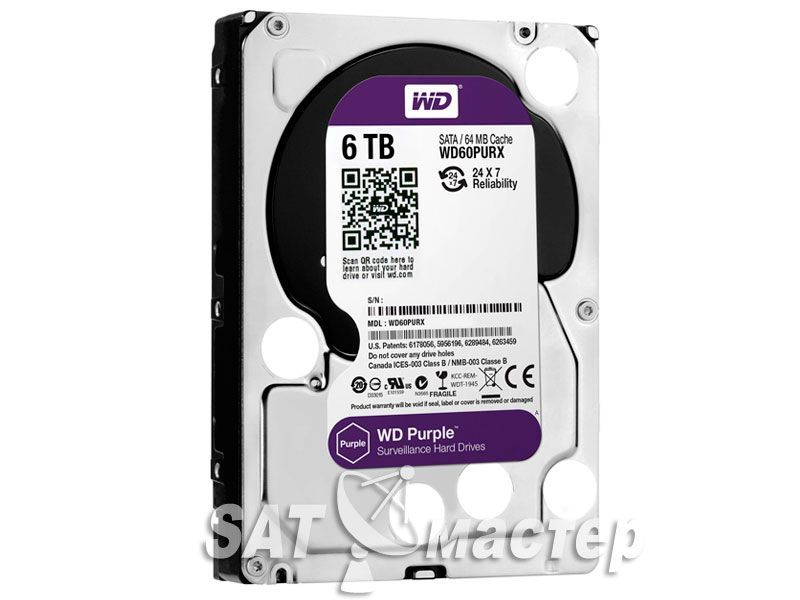 Western Digital Purple WD60PURX 6Tb