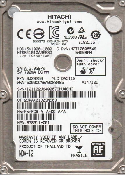 HDD Hitachi 2,5