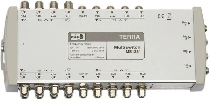 Компактные 13=4 каскадируемые мультисвичи 12-и ПЧ СТВ поддиапазонов +наземного ТВ и с пассивным трактом наземного ТВ.